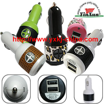 dual usb car charger for ipad,5V2.1A/5V1A IPDA and iphone dual usb car charger,IPAD dual USB car charger,dual USB car charger,IPDA car charger,two USB charger,5V2A dual USB car charger,IPOD car charger