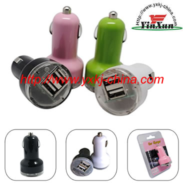 mini 2USB car charger,IPDA car charger,IPAD 2USB car charger,2USB car charger,two USB charger,5V2A mmini 2USB car charger