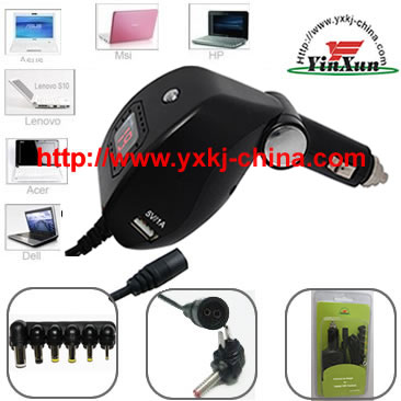 UMPC car charger,laptop car charger,notebook car charger,car charger for notebook,universal car charger for laptop,universal car charger for notebook,universal car charger for UMPC