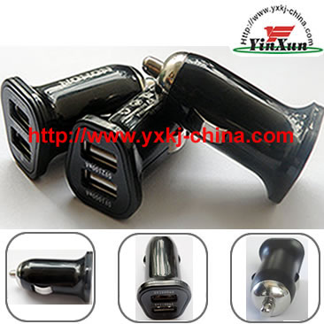 mini dual USB car charger,5V2100mA mini car charger,5V3100mA mini car charger,iphone5 dual usb charger,ipad2 dual usb charger,dual usb charger,5V2.1A dual usb charger,5V3.1A dual usb charger,samsung p1000 dual usb charger