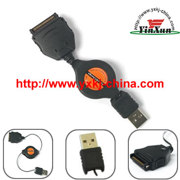 sony T retractable Cable,Retractable Cable for sony T,Hotsync cable for sony T,USB Retractable Hot Sync Charge Data Cable for sony T