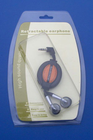 Retractable Stereo Earphone Headphones,Retractable Headphones,Retractable Earphone