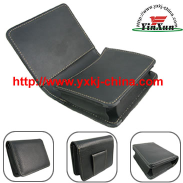 Leather case for GPS Garmin nuvi250