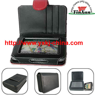 Leather case for GPS Mio c220,Leather case for GPS