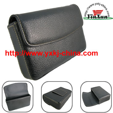 Leather case for GPS Navman s50.Leather case for GPS