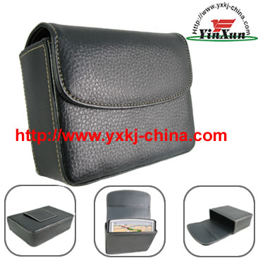 Leather case for GPS Tomtom one V2,Leather case for GPS